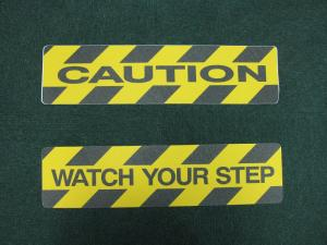 Printed Anti-Slip Tape Sheet (Caution / Watch Your Step)